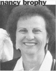 Nancy Brophy director of tom thumb preschool - newspaper picture