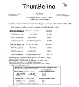 screenshot of thumbelina tuition