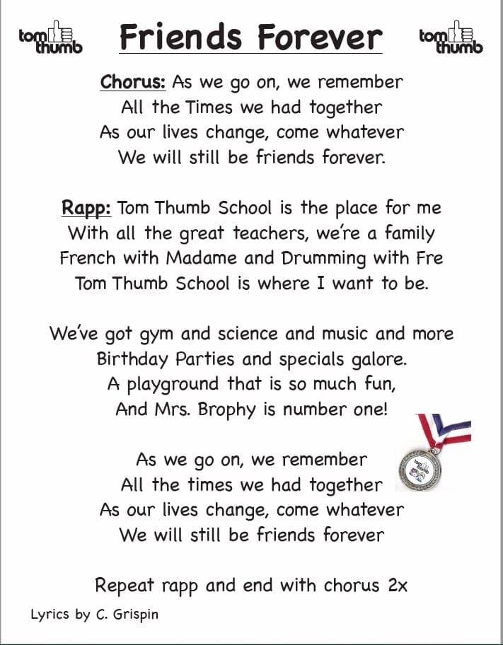 Friends Forever Lyrics
