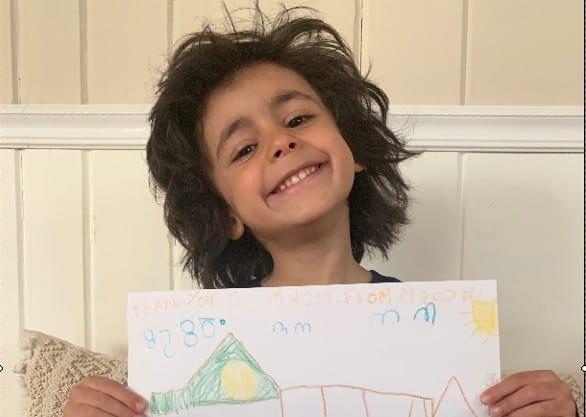 Mason's Picture for Teacher Appreciation