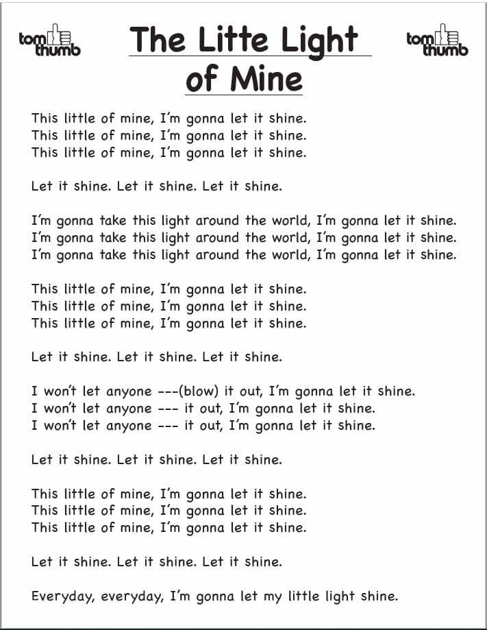 little light of mine lyrics
